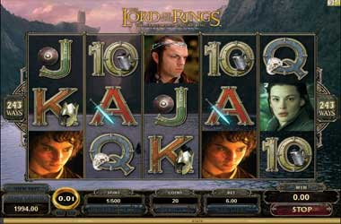 Lord Of The Rings Slot Game